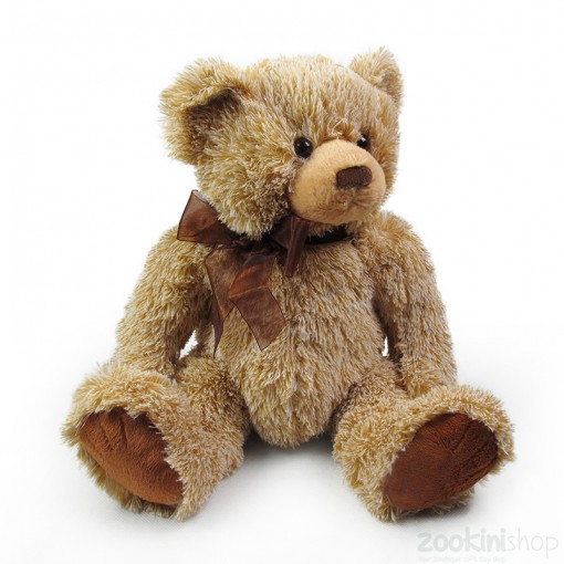 fuzzy classic brown teddy bear
