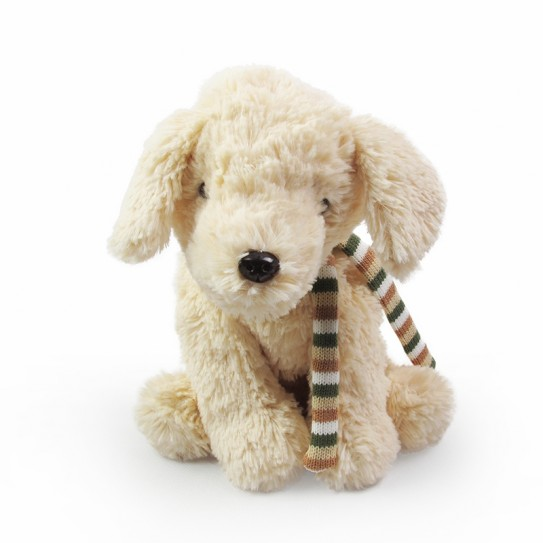 churro cute puppy soft toy beige