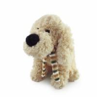 louey dog plush toy beige