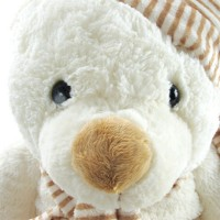 snowy big white teddy bear