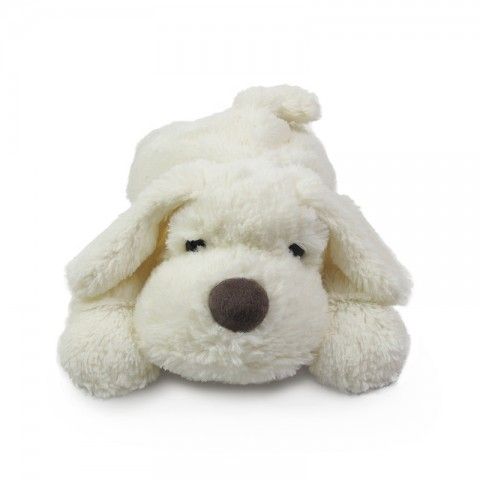 Snoozy - White Plush Dog