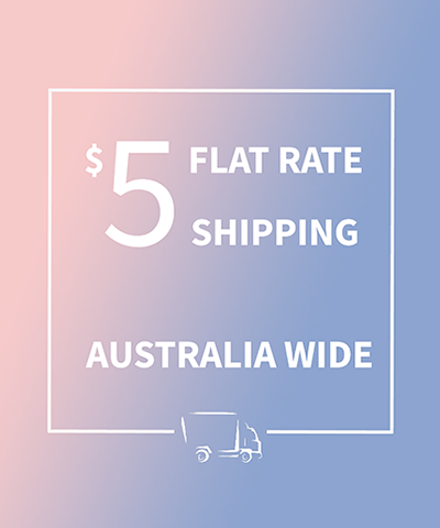 $5 Flat-rate shipping Australia wide